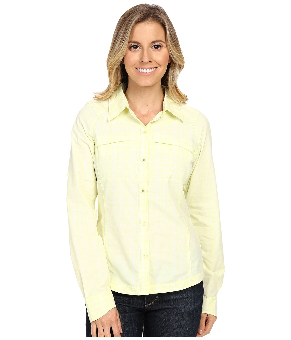 Columbia - Silver Ridge Plaid L/S (Neon Light Plainweave Plaid) Women's Long Sleeve Button Up