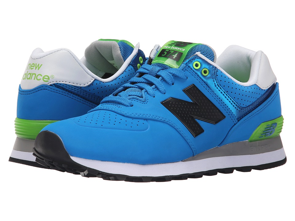 New Balance - ML574 (Blue/Green) Men's Shoes