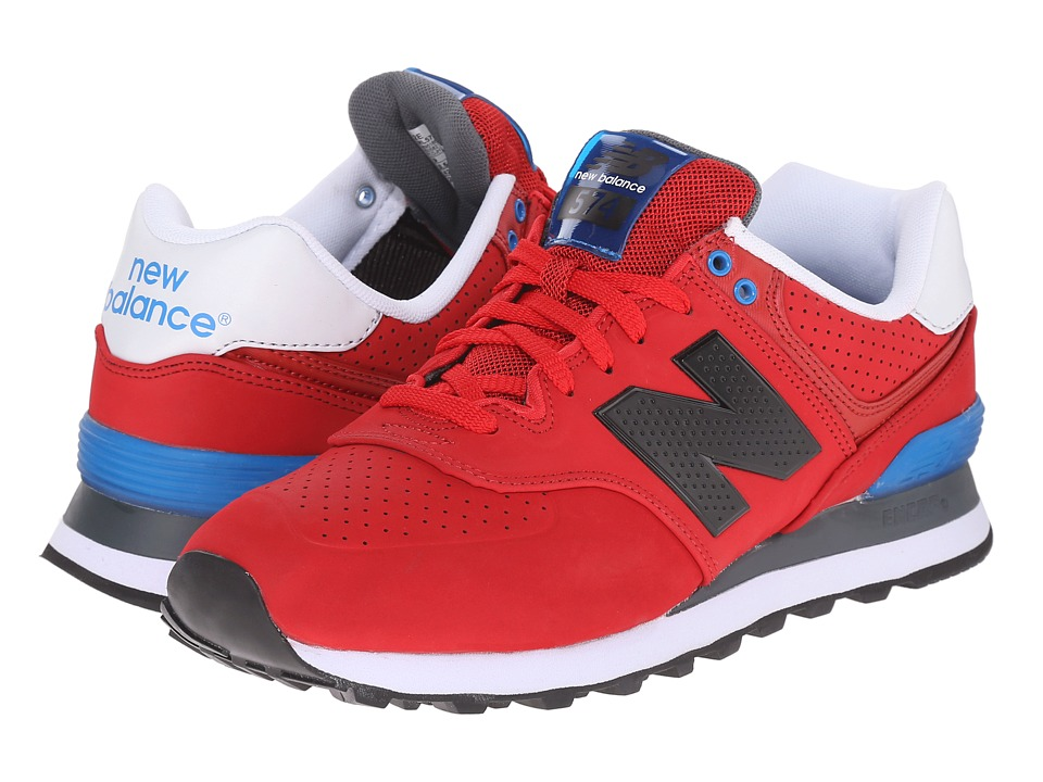 New Balance - ML574 (Red/Blue) Men's Shoes