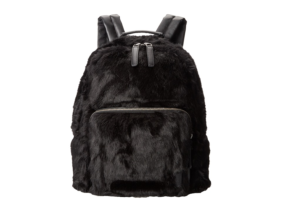 The Kooples - Soft Plush Backpack (Black) Backpack Bags