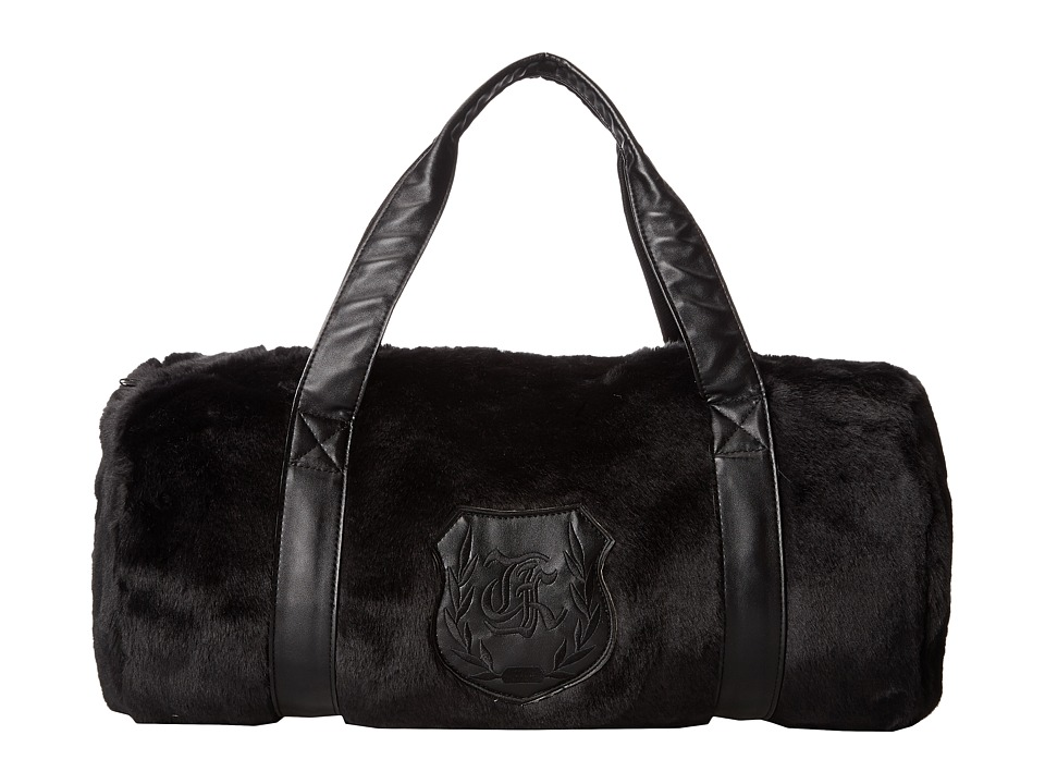 The Kooples - Soft Plush Duffle Bag (Black) Duffel Bags