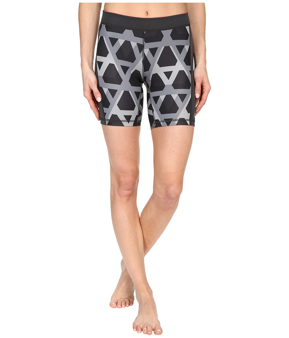 adidas - Techfit 7 Short Tights - Triax Overly Print (DGH Solid Grey Print/Matte Silver) Women's Shorts