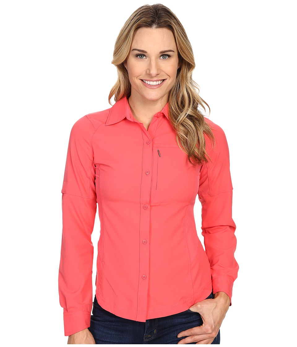 Columbia - Silver Ridge L/S Shirt (Bright Geranium) Women's Long Sleeve Button Up
