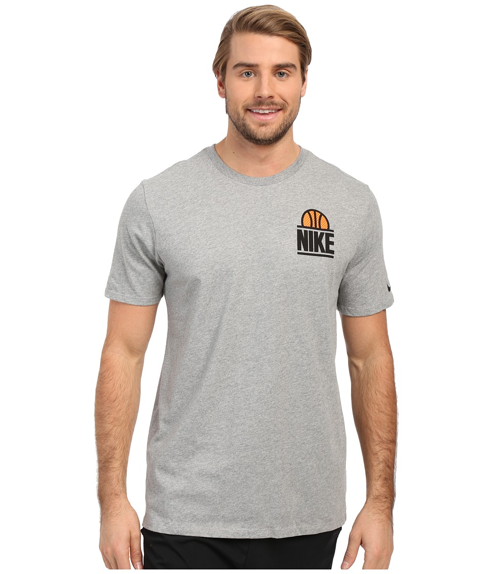 Nike - Classic Block Tee (Dark Grey Heather/Dark Grey Heather/Black) Men's T Shirt