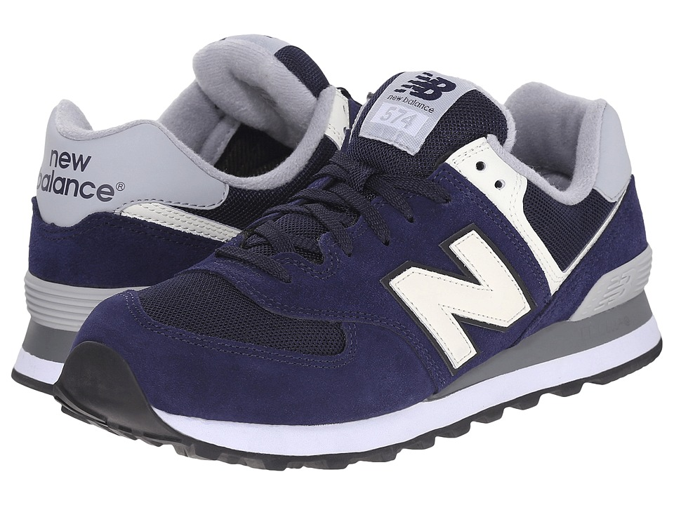 New Balance Classics - ML574 (Navy/Athletic Grey) Men's Shoes