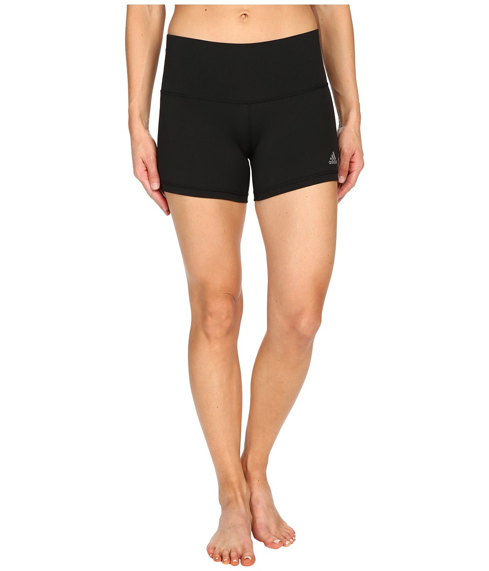 adidas - Performer 4 Short Tights (Black/Matte Silver) Women's Shorts