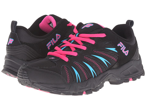 Fila - Trailbuster 2 (Black/Pink Glo/Atomic Blue) Women's Shoes