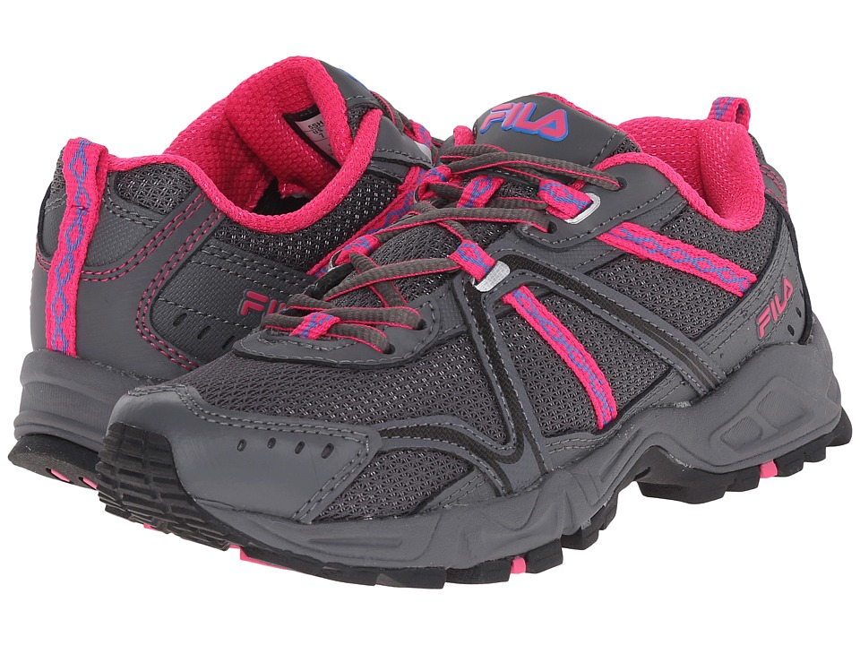 Fila - Ascent 12 (Castlerock/Pink Glo/Electric Blue) Women's Running Shoes