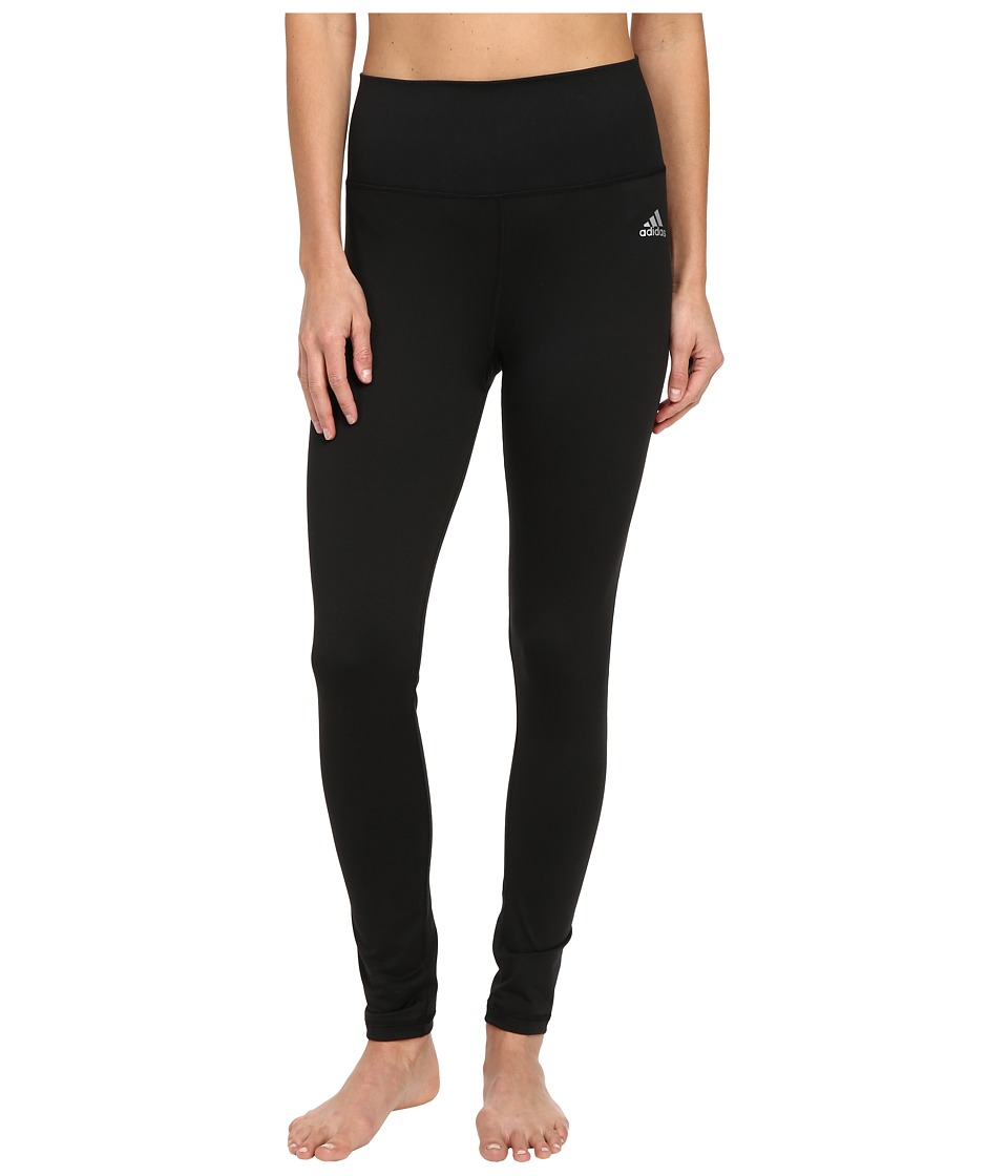 adidas - Performer High Rise Long Tights (Black/Matte Silver) Women's Workout