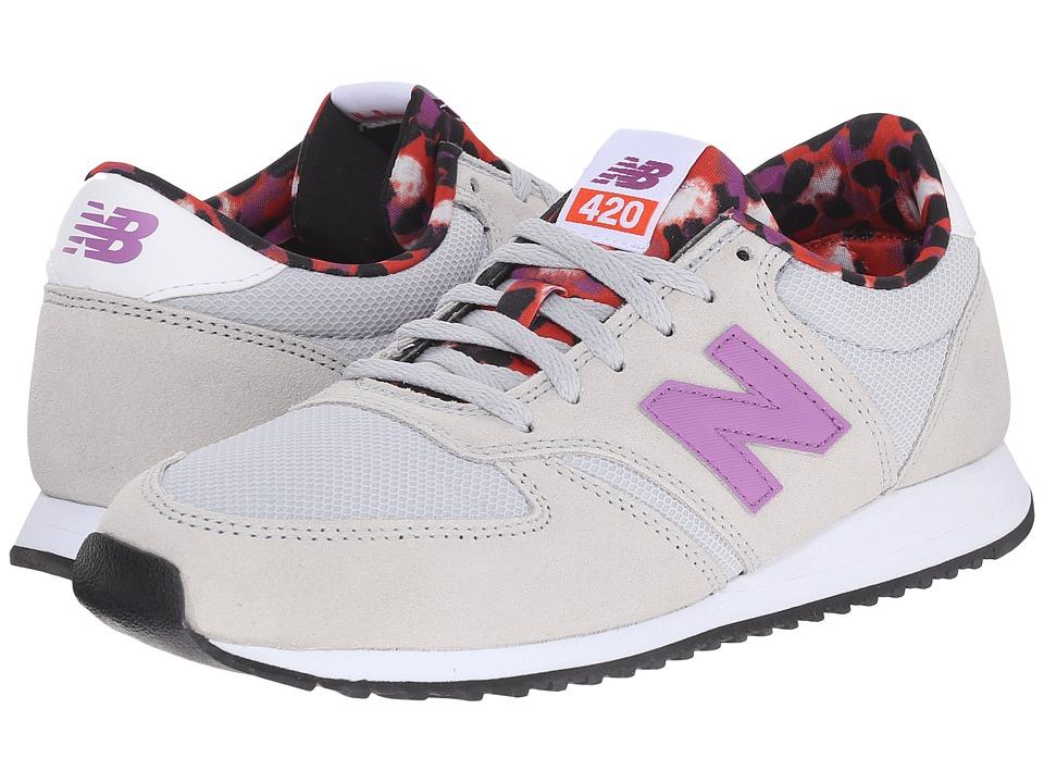 New Balance Classics - WL420 (Grey/Purple) Women's Classic Shoes