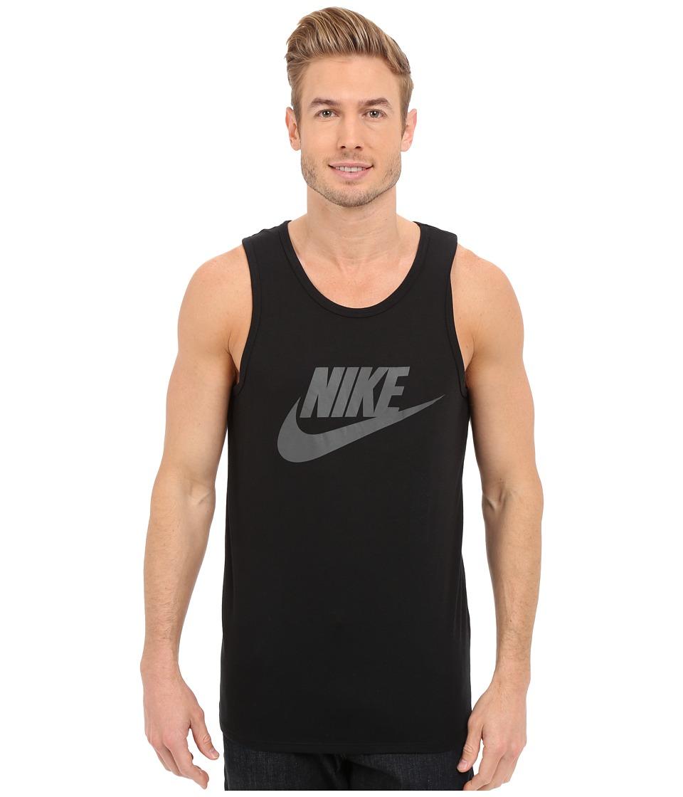 Nike - Ace Logo Tank Top (Black/Black/Black) Men's Sleeveless