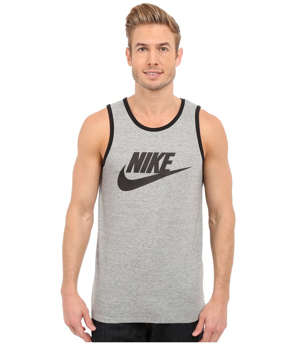 Nike - Ace Logo Tank Top (Dark Grey Heather/Black/Black) Men's Sleeveless