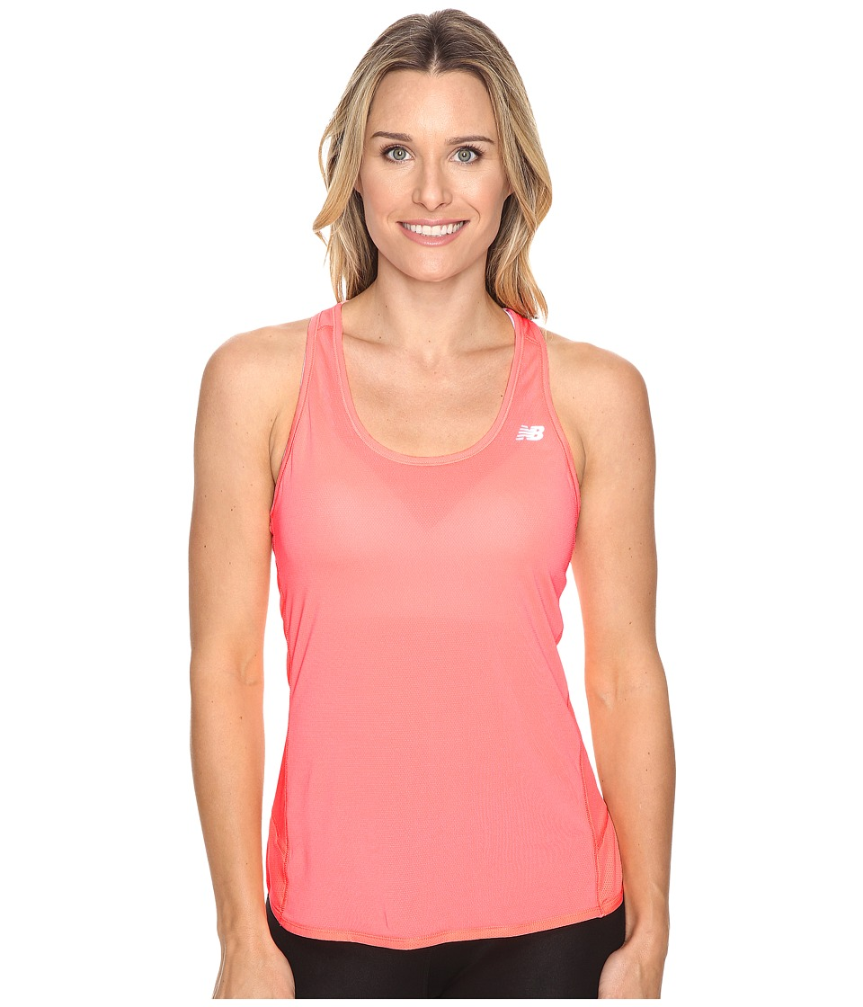 New Balance - Fashion Tank Top (Cosmic Coral) Women's Short Sleeve Pullover