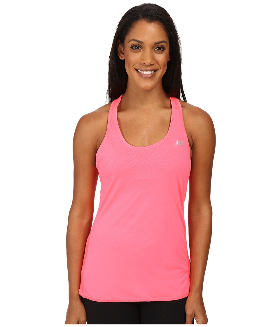 New Balance - Fashion Tank Top (Pink Zing) Women's Short Sleeve Pullover