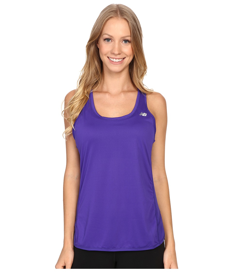 New Balance - Fashion Tank Top (Lazarite) Women's Short Sleeve Pullover