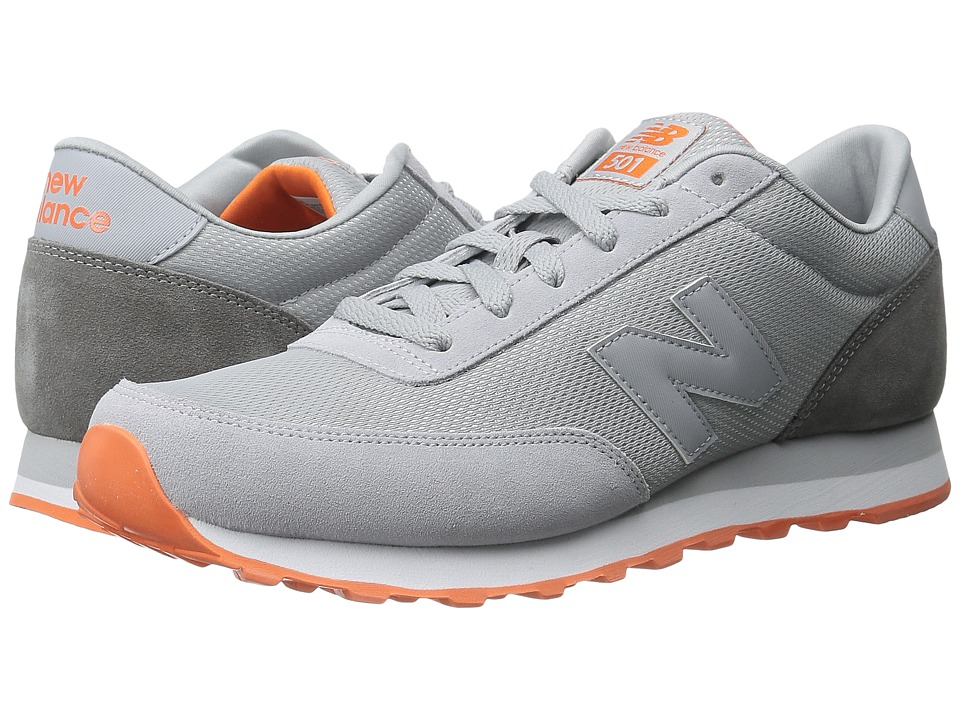 New Balance Classics - WL501 (Grey/Orange) Women's Classic Shoes