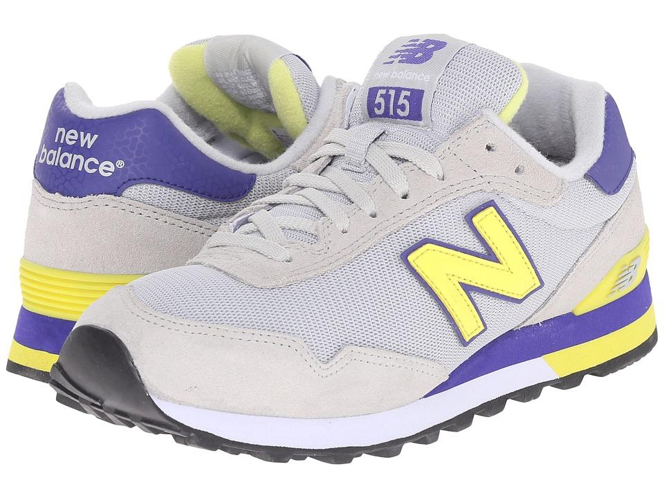 New Balance Classics - WL515 (Grey/Lime) Women's Classic Shoes