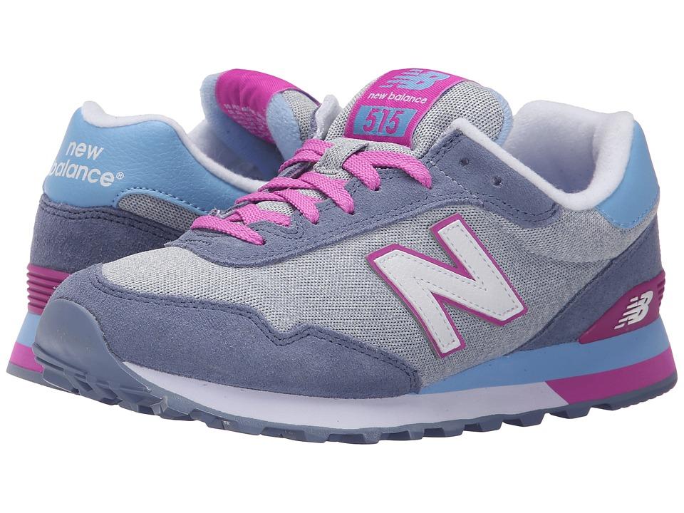 New Balance Classics - WL515 (Grey/Purple 1) Women's Classic Shoes