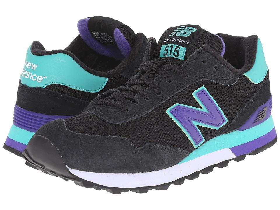 New Balance Classics - WL515 (Black/Green) Women's Classic Shoes