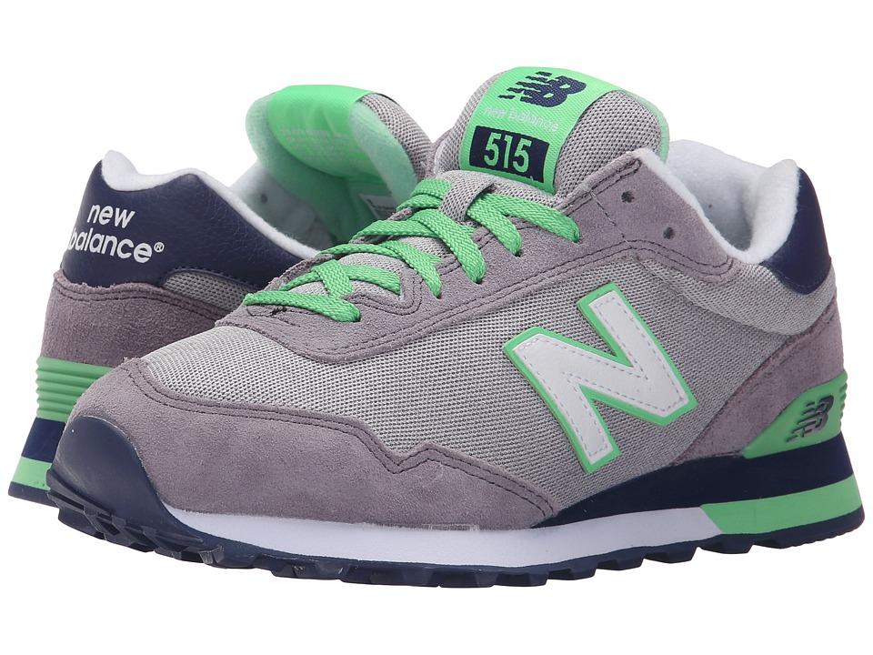 New Balance Classics - WL515 (Grey/Green 1) Women's Classic Shoes