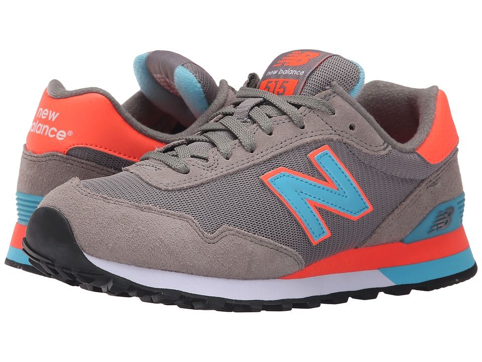 New Balance Classics - WL515 (Grey/Orange) Women's Classic Shoes