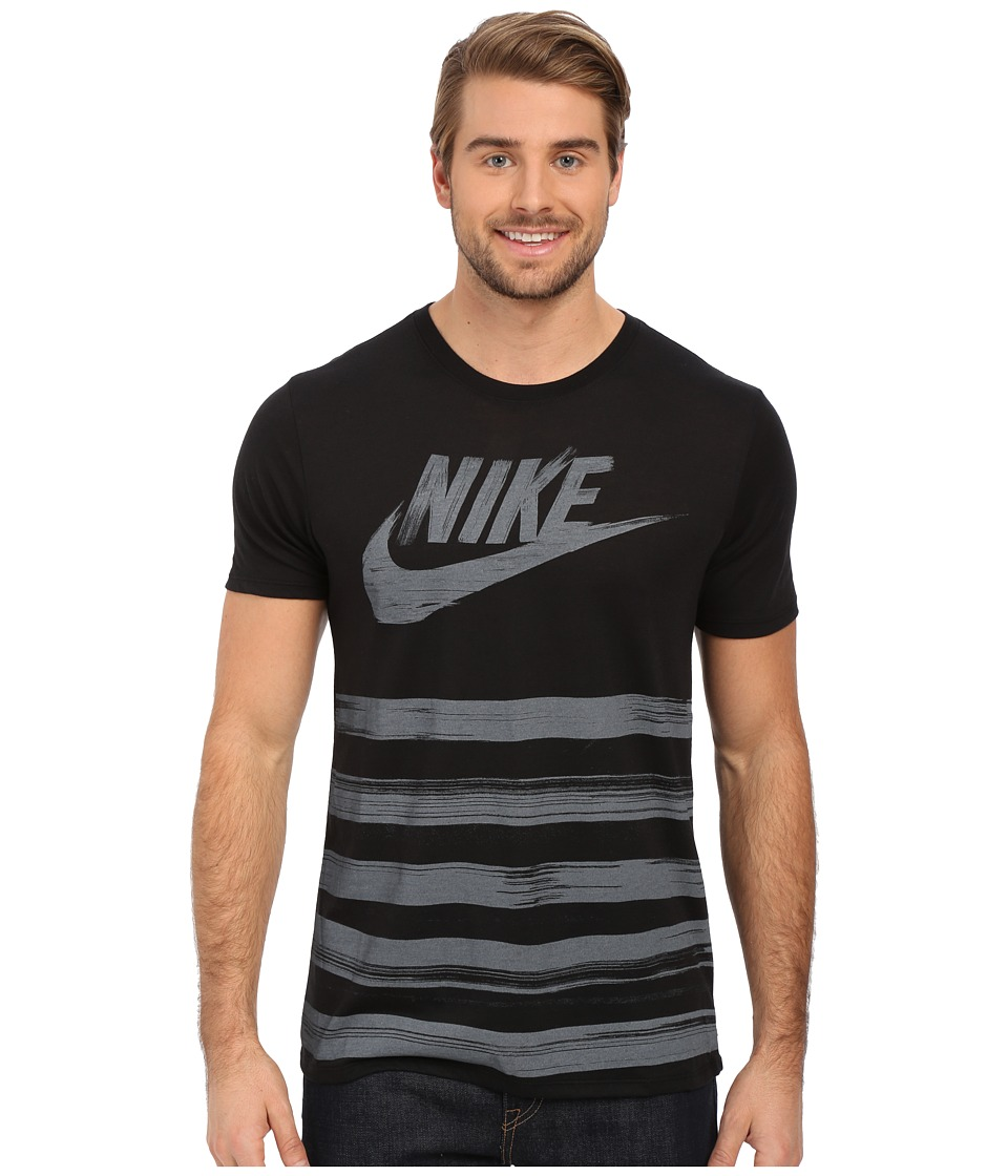 Nike - Flow Motion Futura Tee (Black/Black/Dark Grey) Men's T Shirt