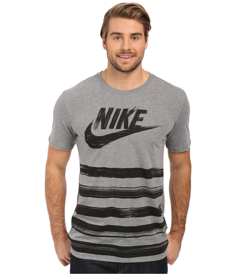 Nike - Flow Motion Futura Tee (Carbon Heather/Carbon Heather) Men's T Shirt