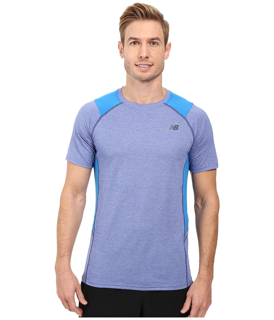 New Balance - Short Sleeve Novelty Performance Tee (Electric Blue) Men's T Shirt