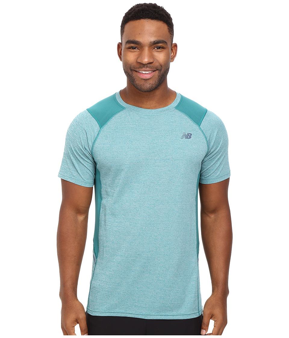 New Balance - Short Sleeve Novelty Performance Tee (Juniper) Men's T Shirt