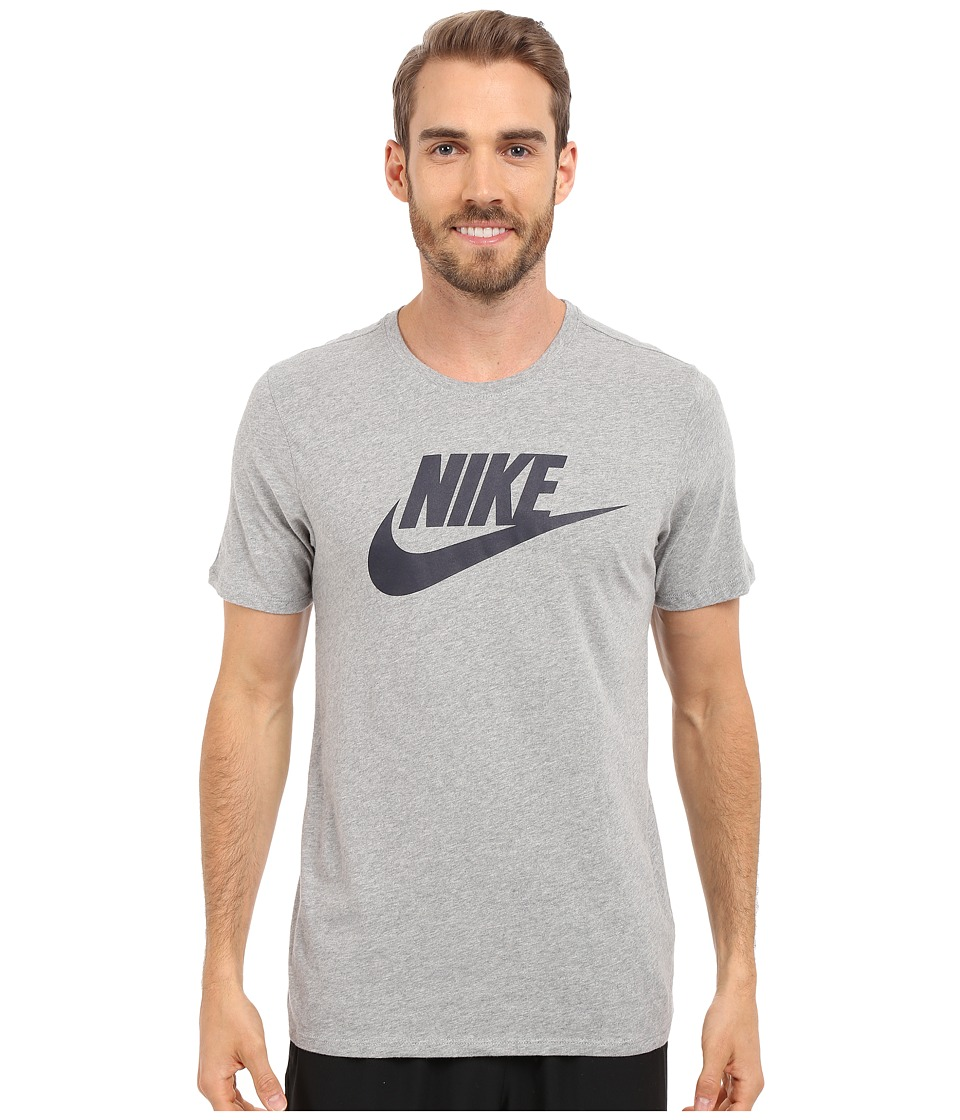 Nike - Futura Icon Tee (Dark Grey Heather/Dark Grey Heather/Obsidian) Men's Short Sleeve Pullover