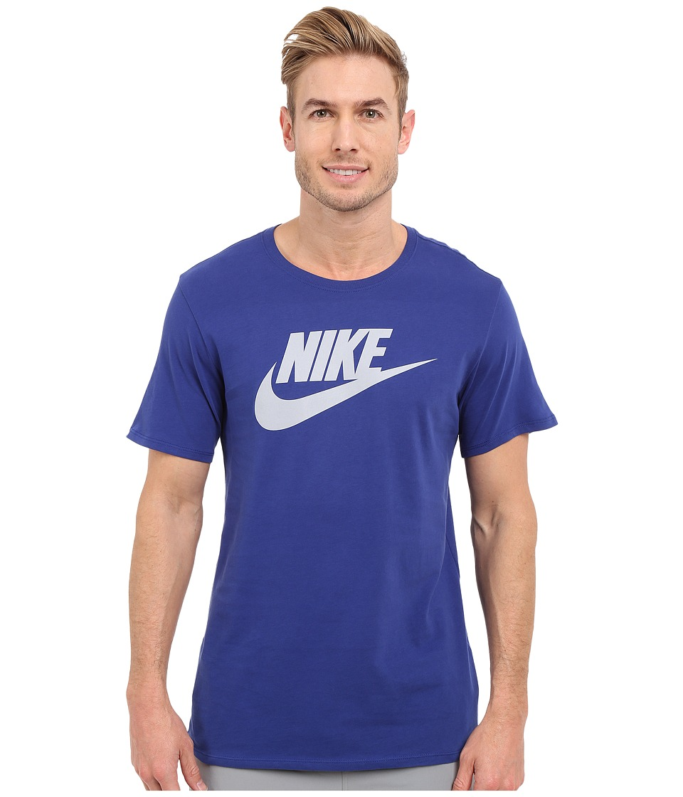 Nike - Futura Icon Tee (Deep Royal Blue/Deep Royal Blue/Wolf Grey) Men's Short Sleeve Pullover