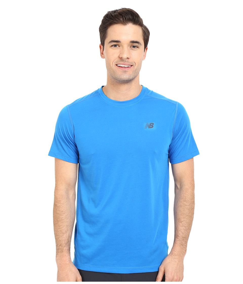 New Balance - Short Sleeve Performance Top (Eleectric Blue) Men's Short Sleeve Pullover