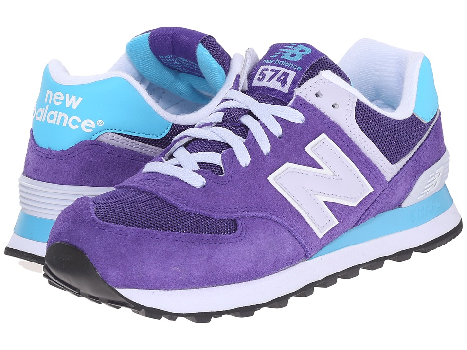 New Balance Classics - WL574 (Purple/Blue) Women's Lace up casual Shoes