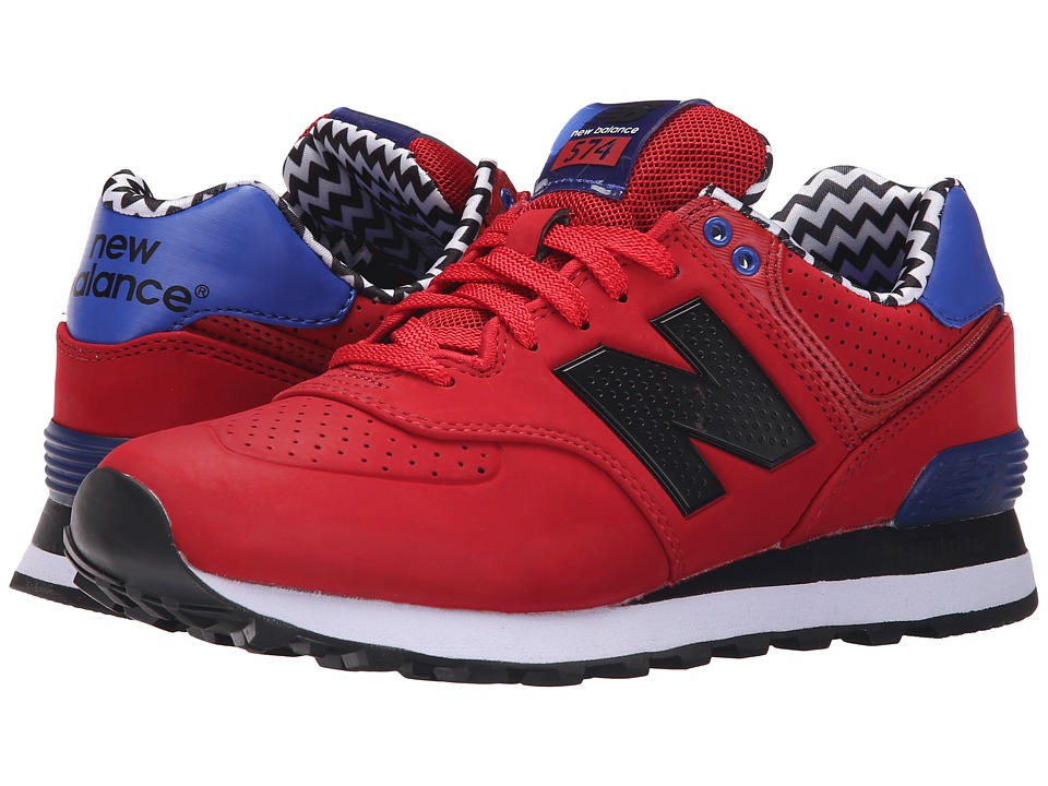 New Balance Classics - WL574 (Red/Black) Women's Lace up casual Shoes