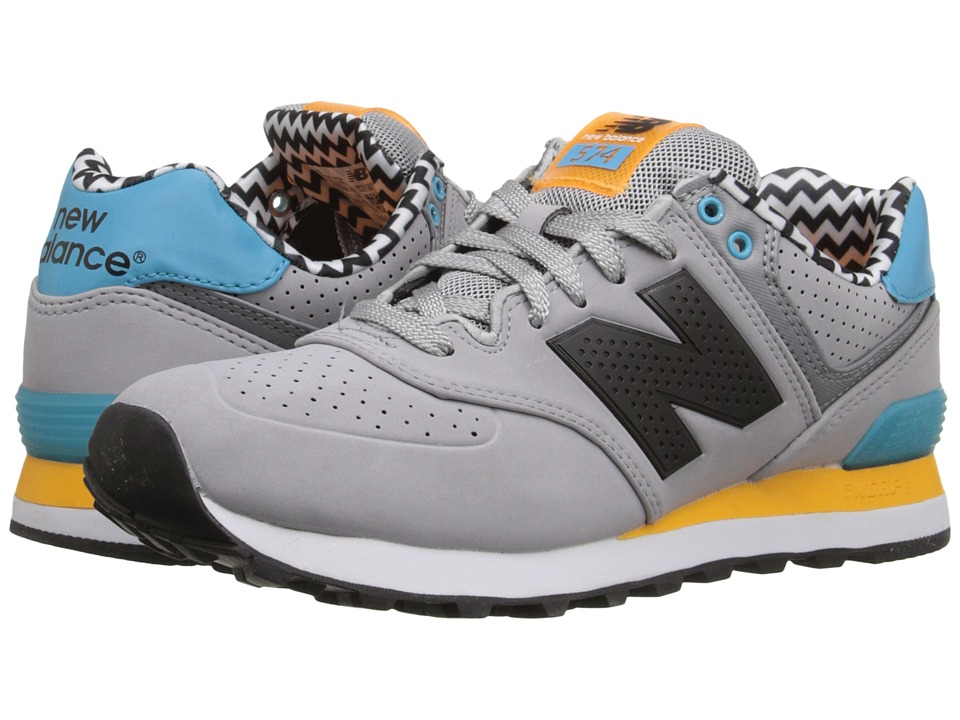 New Balance Classics - WL574 (Grey/Orange) Women's Lace up casual Shoes