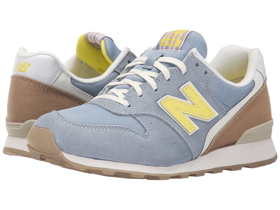 New Balance Classics - WL696 (Grey/Yellow) Women's Classic Shoes