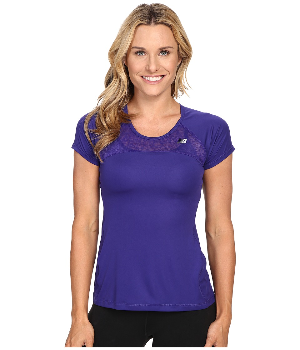 New Balance - Run Short Sleeve Top (Lazarite) Women's Clothing