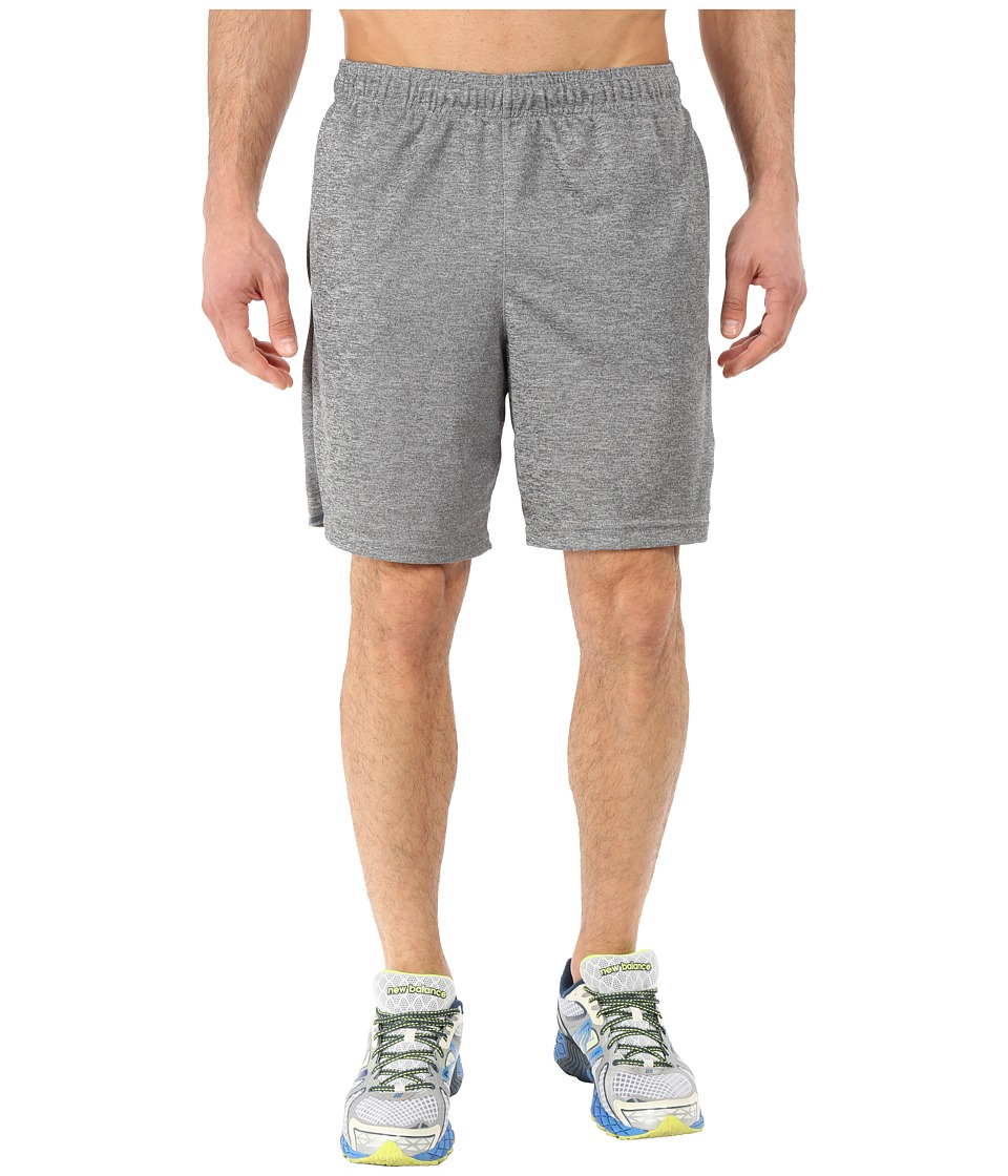 New Balance - 8 Performance Knit Shorts (Heathered Grey) Men's Shorts