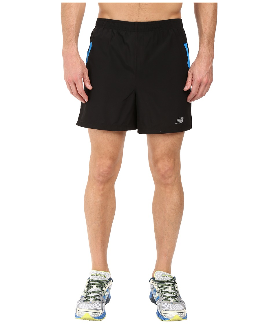 New Balance - Woven Run Shorts (Electric Blue) Men's Shorts