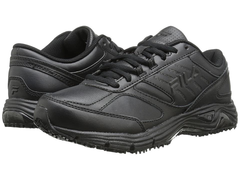 Fila - Memory Flux Slip Resistant (Black/Black/Black) Women's Lace up casual Shoes