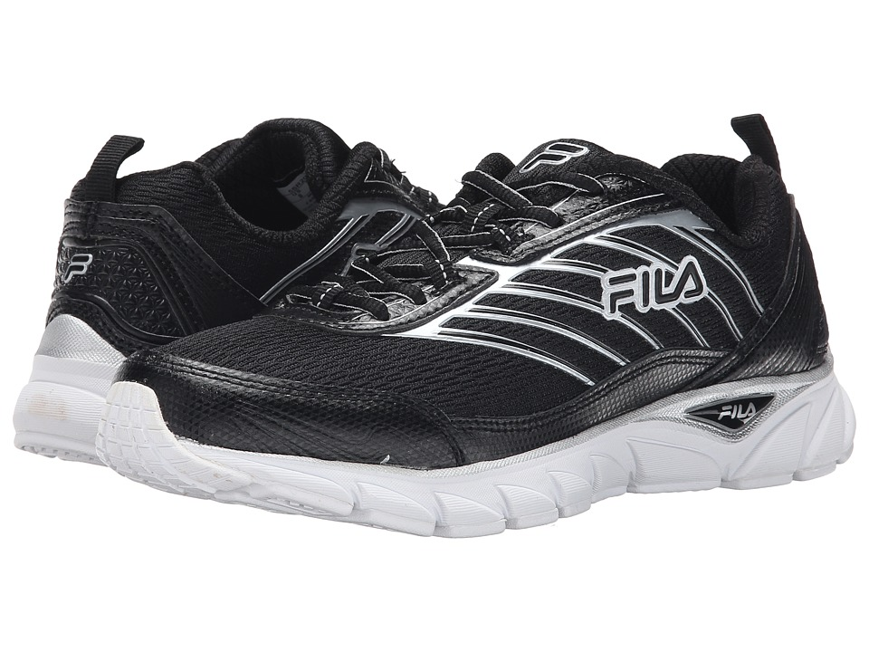 Fila Forward (Black/Black/Metallic Silver) Women's Running Shoes