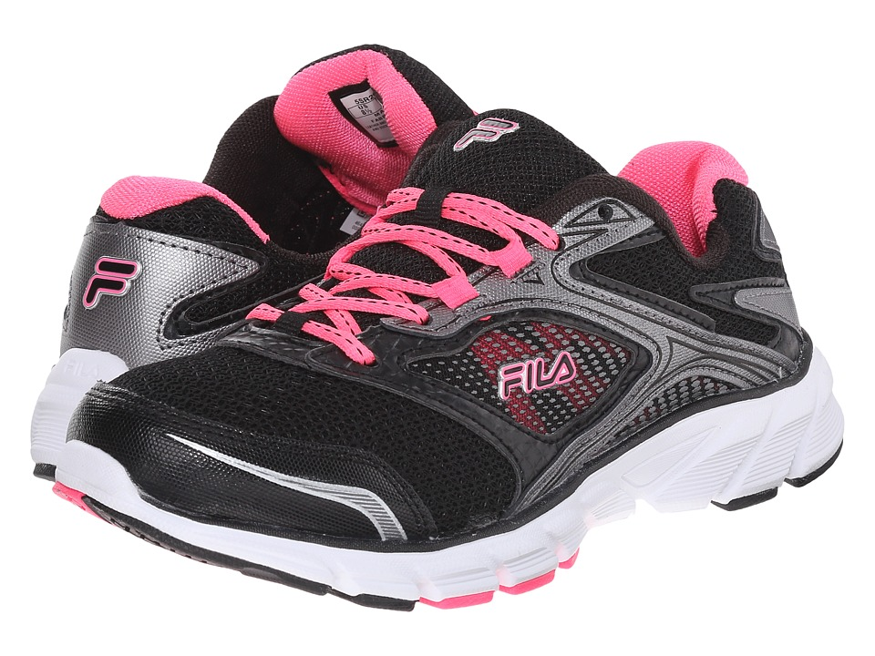 Fila - Stir Up (Black/Dark Silver/Knockout Pink) Women's Shoes