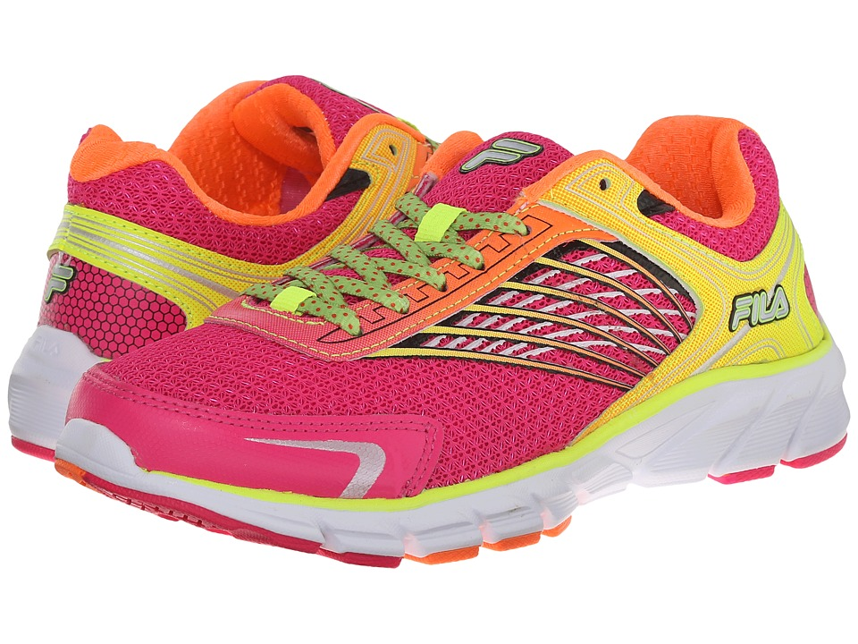 Fila - Memory Maranello 2 (Pink Glo/Shocking Orange/Safety Yellow) Women's Running Shoes