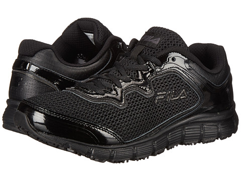 Fila - Memory Fresh Start SR (Black/Black/Metallic Silver) Women's Shoes