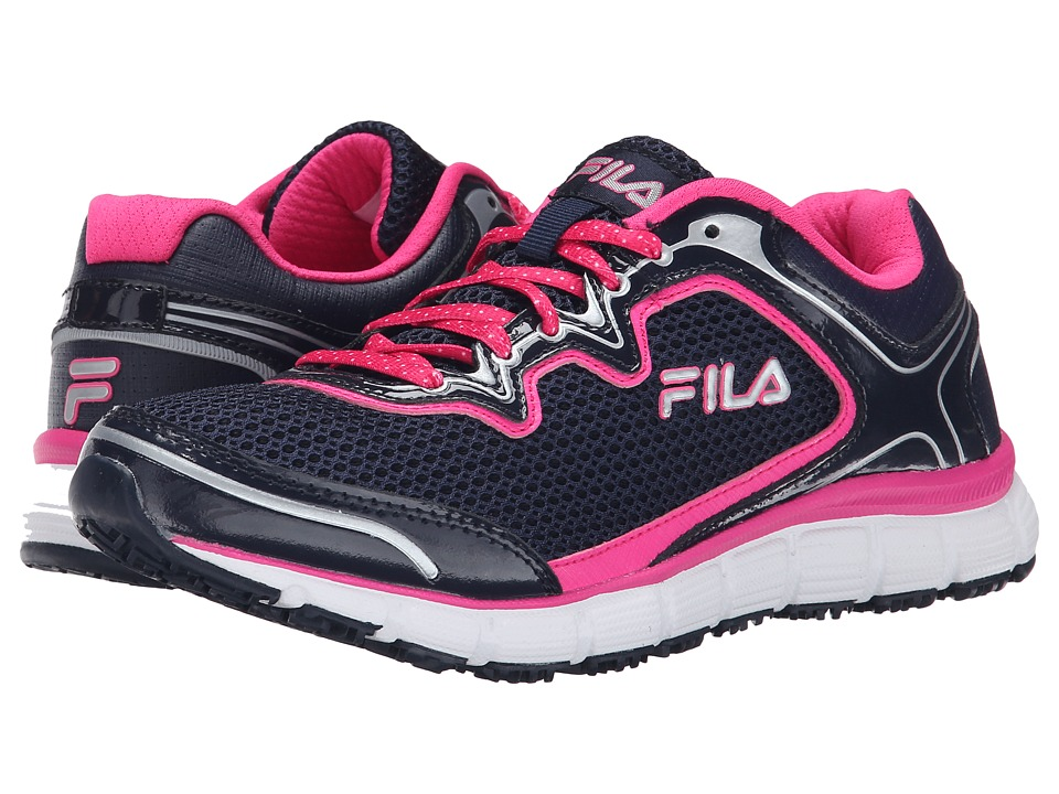 Fila - Memory Fresh Start SR (Fila Navy/Pink Glo/White) Women's Shoes