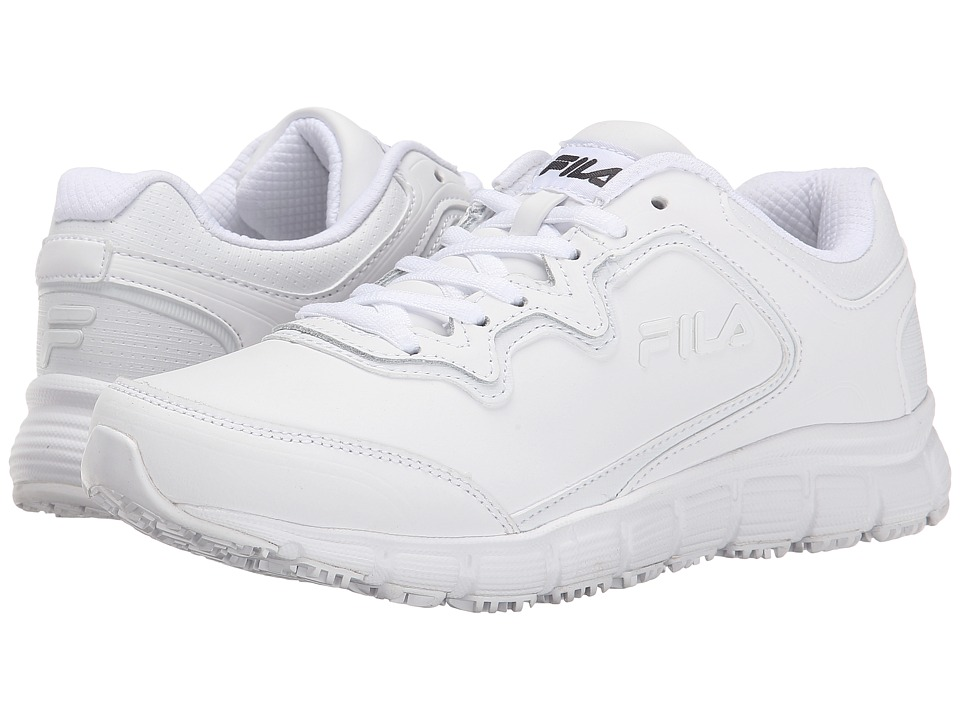 Fila - Memory Fresh Start SR (White/White/White) Women's Shoes
