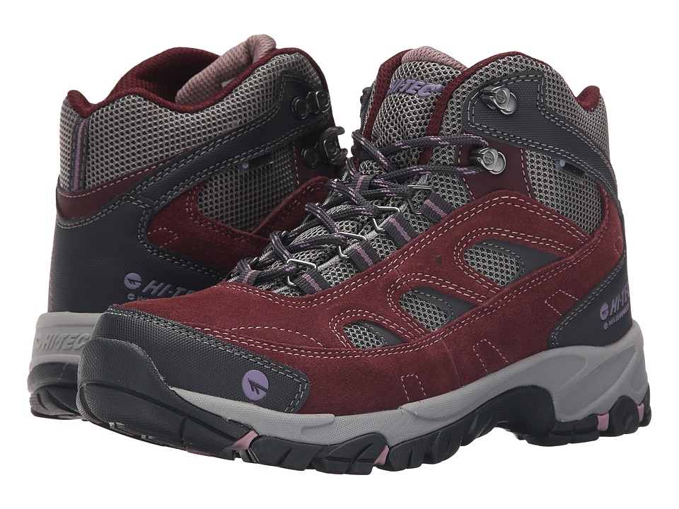 Hi-Tec - Logan Mid WP (Plum/Cool Grey/Elderberry) Women's Work Boots