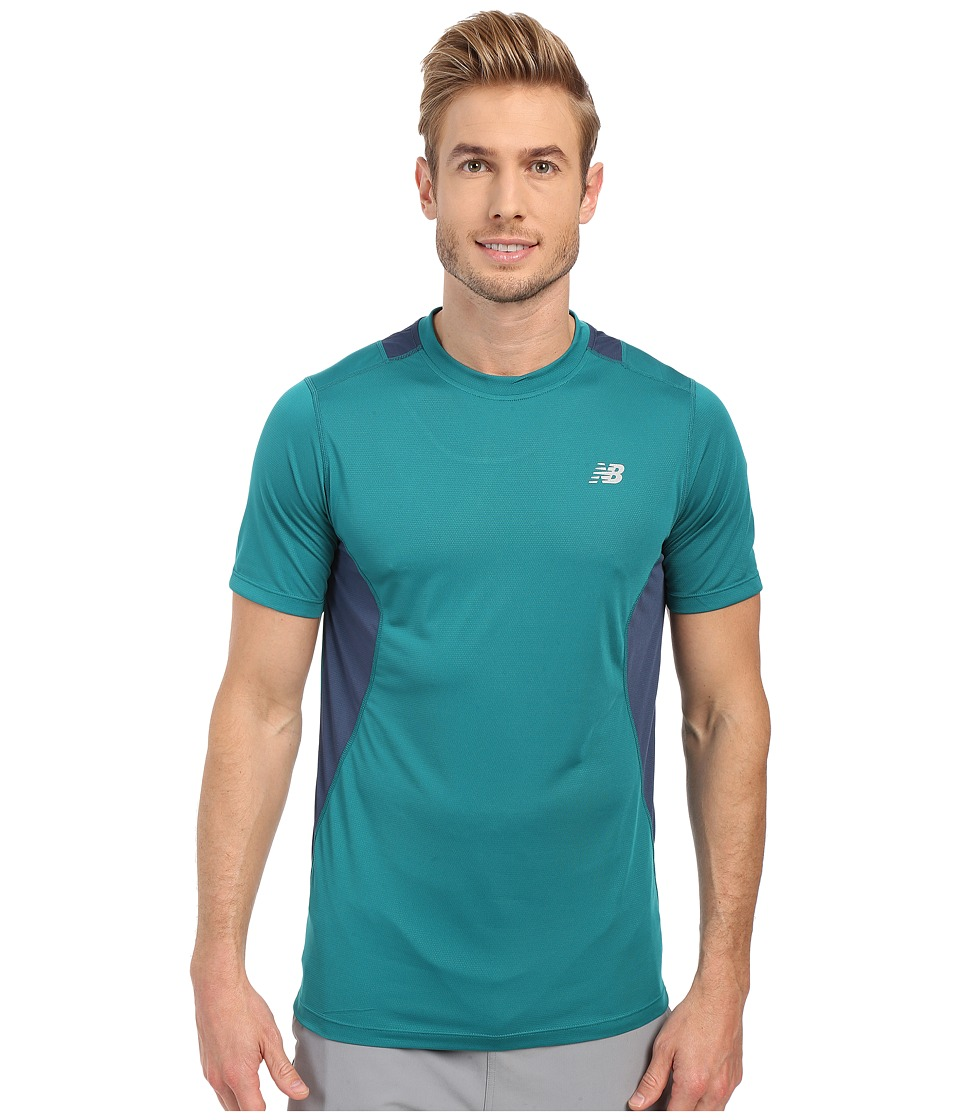 New Balance - Core 5K Run Tech Top (Juniper) Men's Clothing