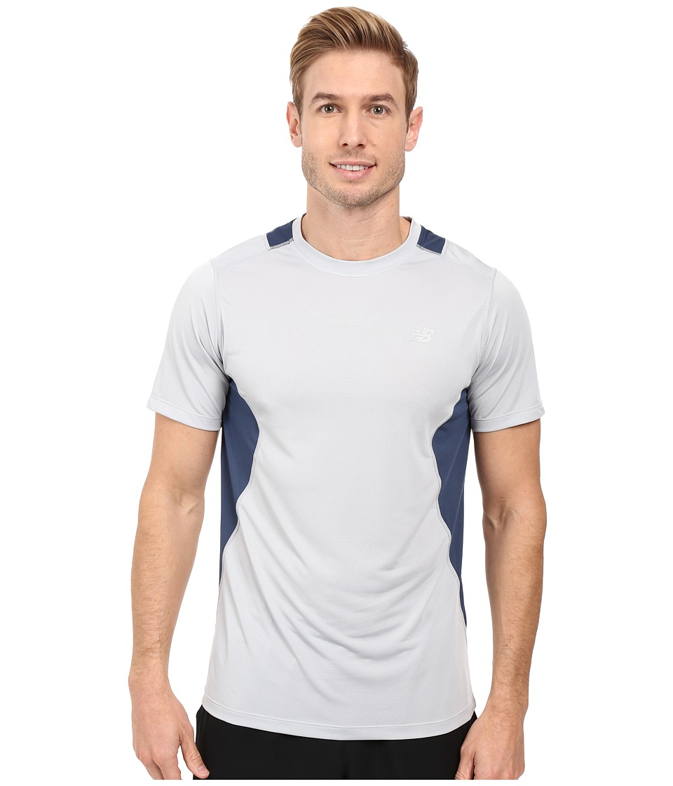 New Balance - Core 5K Run Tech Top (Silver Mink) Men's Clothing