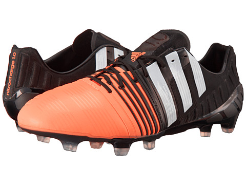 adidas - Nitrocharge 1-0 FG (Black/White/Flash Orange) Men's Shoes
